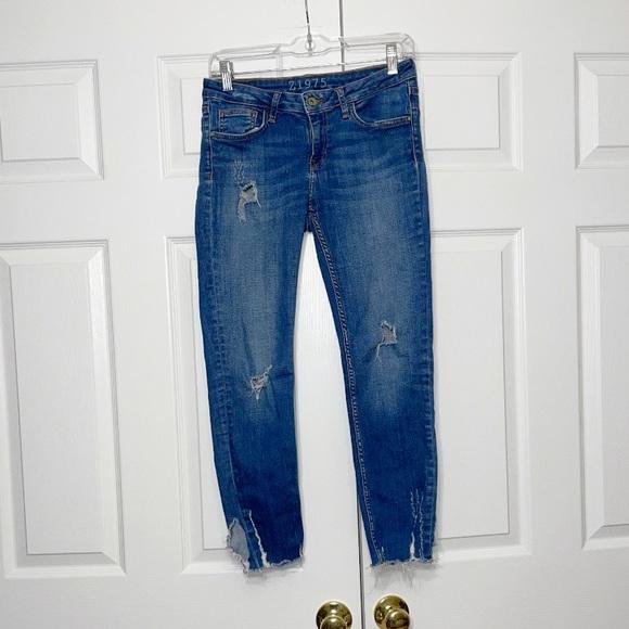 Zara women's ripped jeans
